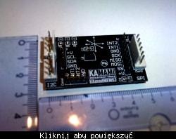 Zdjęcie przykładowego modułu zawierającego akcelerometr