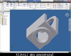 Przykładowe okno projektu Autodesk Inventor