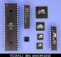 Przykładowe mikrokontrolery AVR, w różnych obudowach